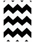RugStudio presents Dash And Albert Chevron 81766 White / Black Woven Area Rug